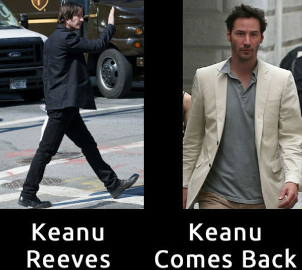 celebrity name puns, celebrity opposite names, keanu reeves comes back