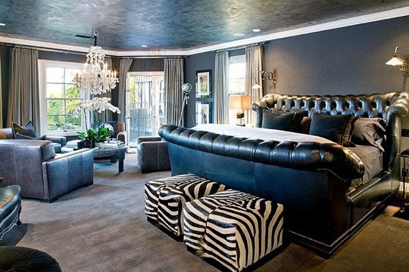 bedroom Christian Audigier Home Los Angeles