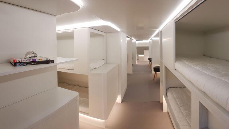 Airbus quiere transformar las bodegas de sus aviones en habitaciones para que duermas en ellas