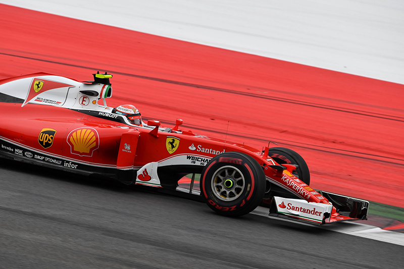 Ferrari's Finnish driver Kimi Raikkonen drives during the Formula One Grand Prix of Austria at the Red Bull Ring in Spielberg, Austria on July 3, 2016