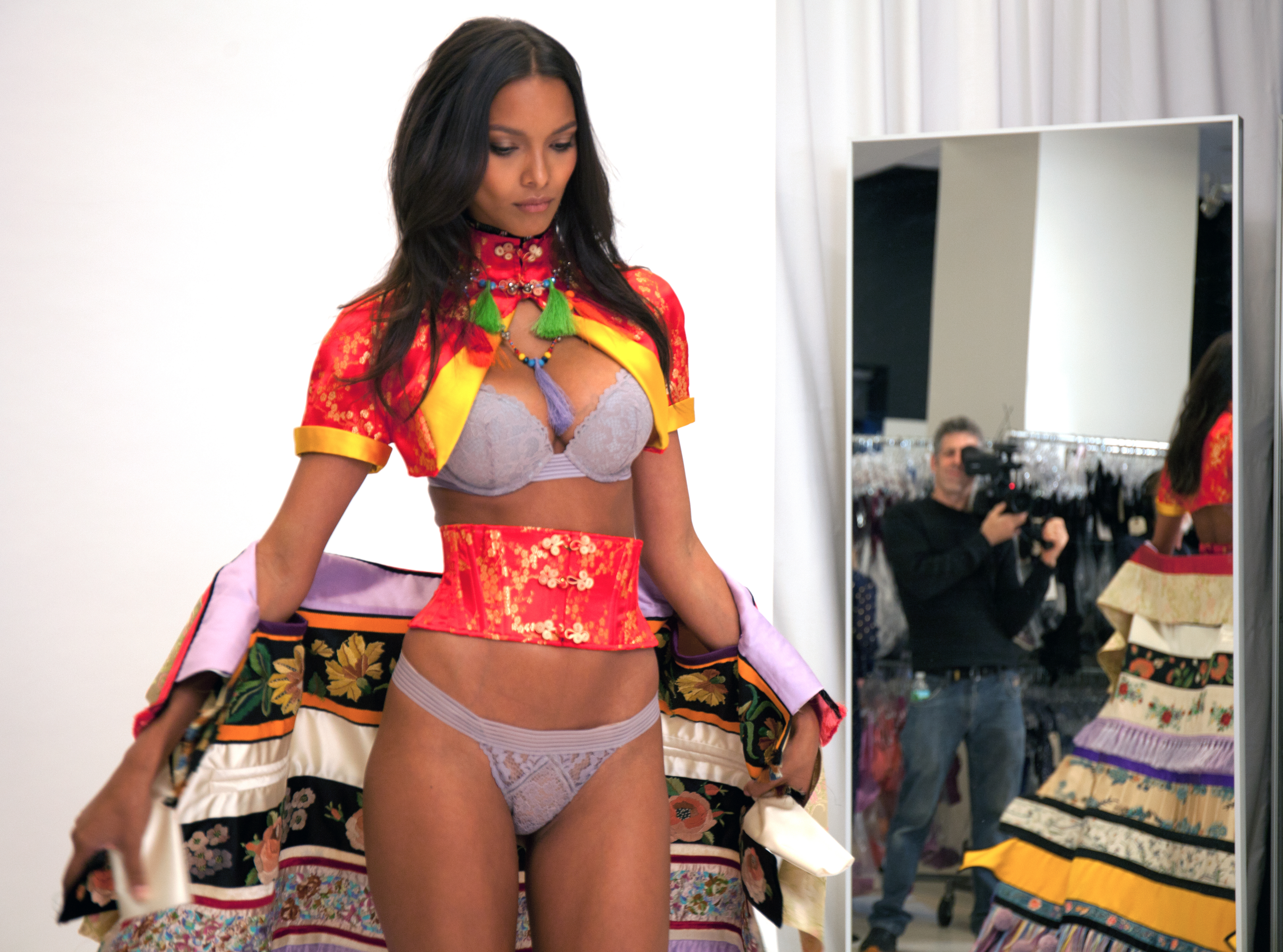 """Lais Ribeiro's Victoria's Secret fitting 2016 for the section """"The Road Ahead"""""""