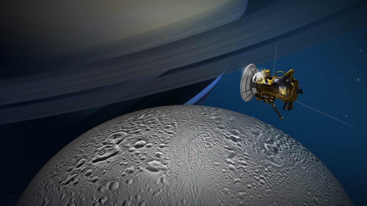 Cassini will soar close to Saturn moon Enceladus for the last time
