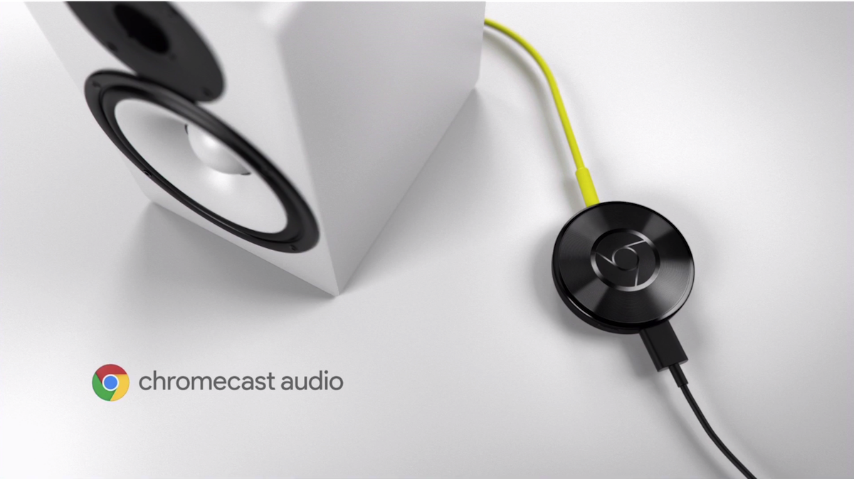 Chromecast Audio connects your existing speakers