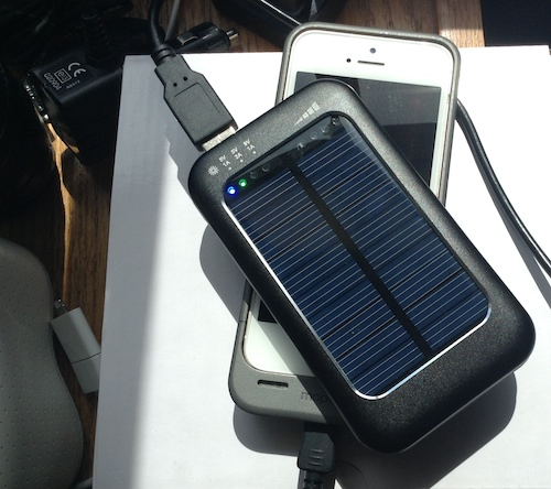 Bracketron Xventure Xolar 3000 solar battery pack for iPhone