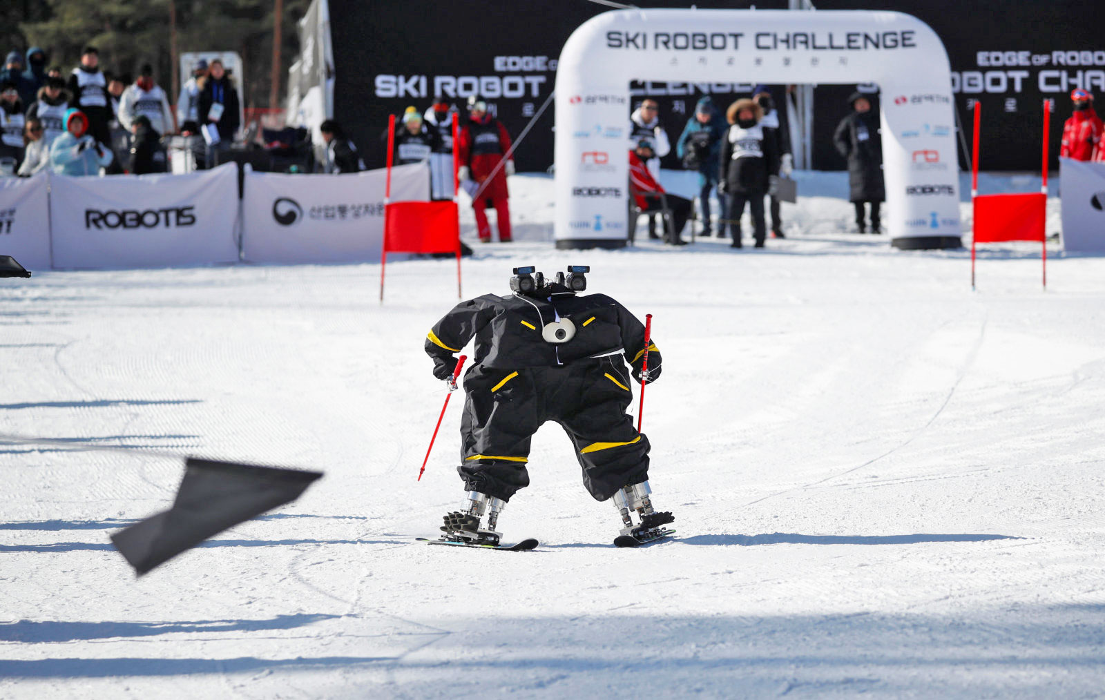 photo image Robots had their own skiing competition at the Winter Olympics