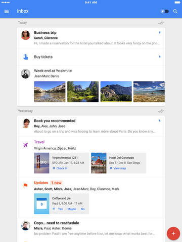 Google's 'Inbox' email app is now available on the iPad