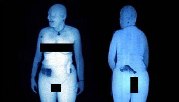 Funny, Airport Full Body Scanners Show Anything And Everything
