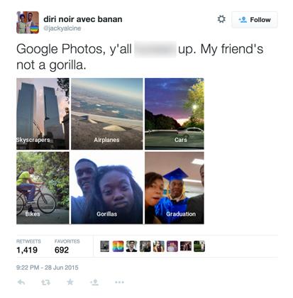 Google Photos identified 2 black people as 'gorillas'