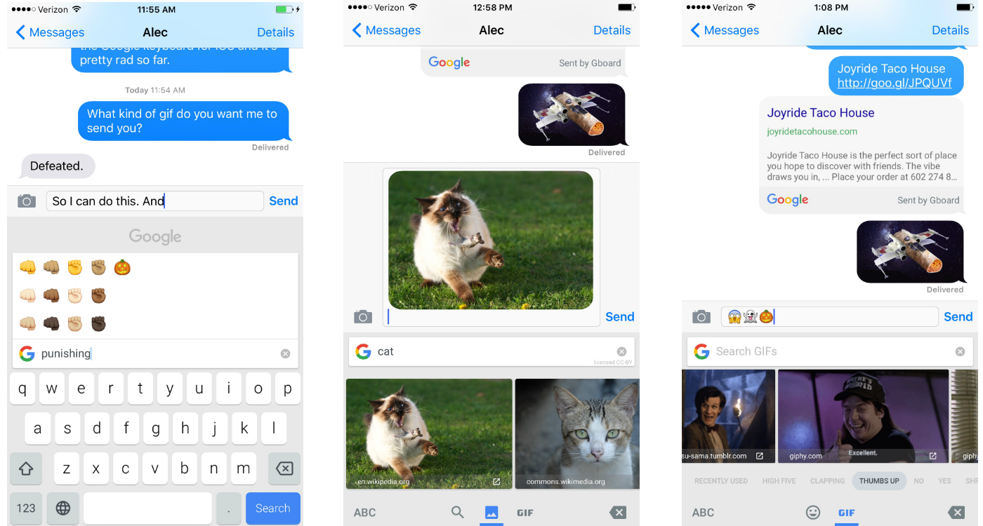 Google's iOS keyboard is the GIF and emoji app of my dreams