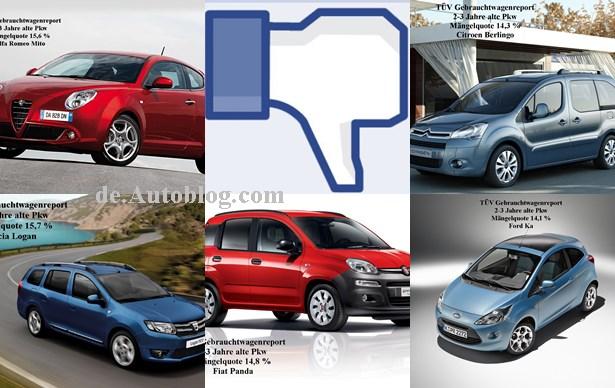 Diie 5 schlechtesten Gebrauchtwagen 2015