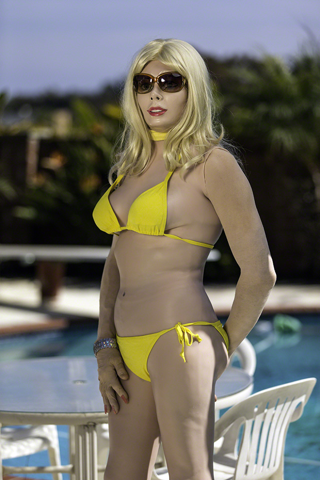 Roby wears his FemSkin with a yellow bikini