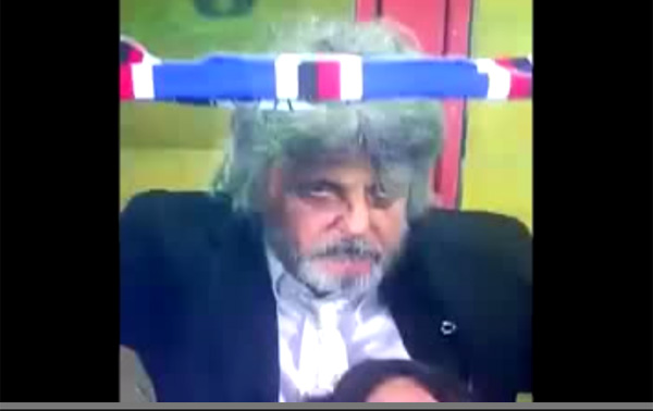 【サッカー】サンプドリアの名物オーナー、意味不明なパフォーマンスが話題に