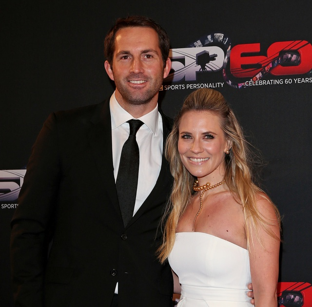 Georgie Thompson and Ben Ainslie engaged