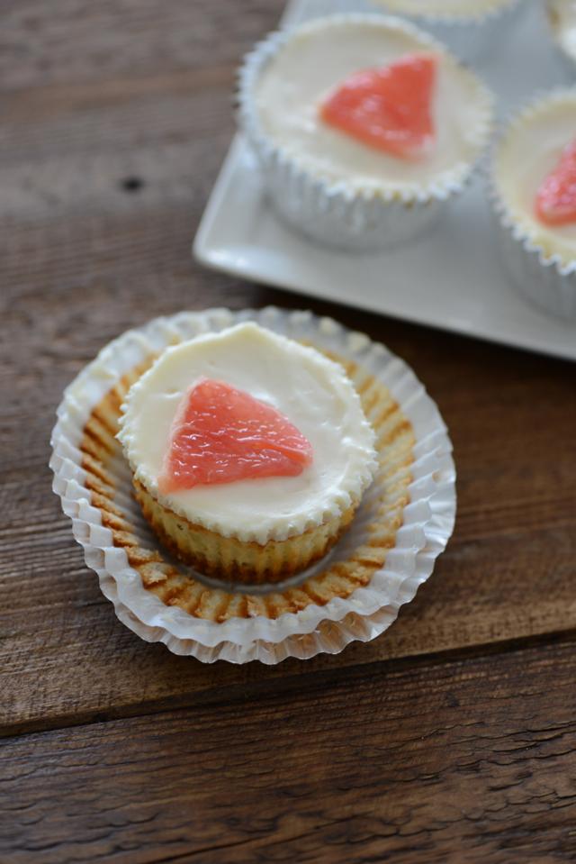 Mini Grapefruit Cheesecakes