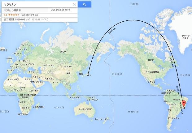 デスクトップ版Google マップ更新、任意ルートの距離測定に対応。道を無視して複数地点を設定可