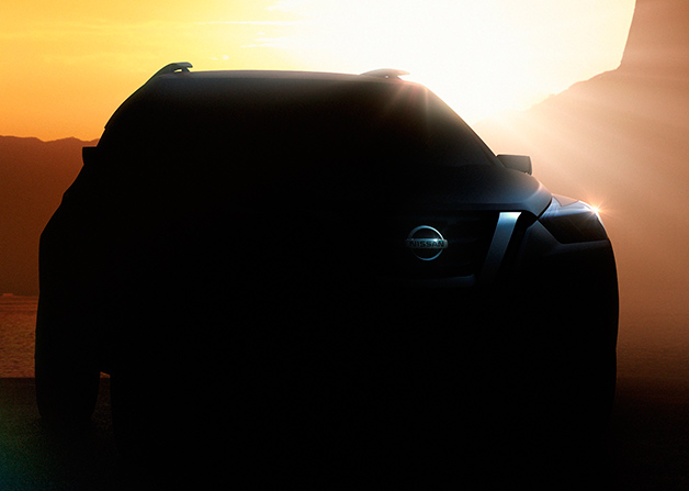 Teaser photo of unnamed Nissan CUV concept for 2014 Sao Paulo Motor Show
