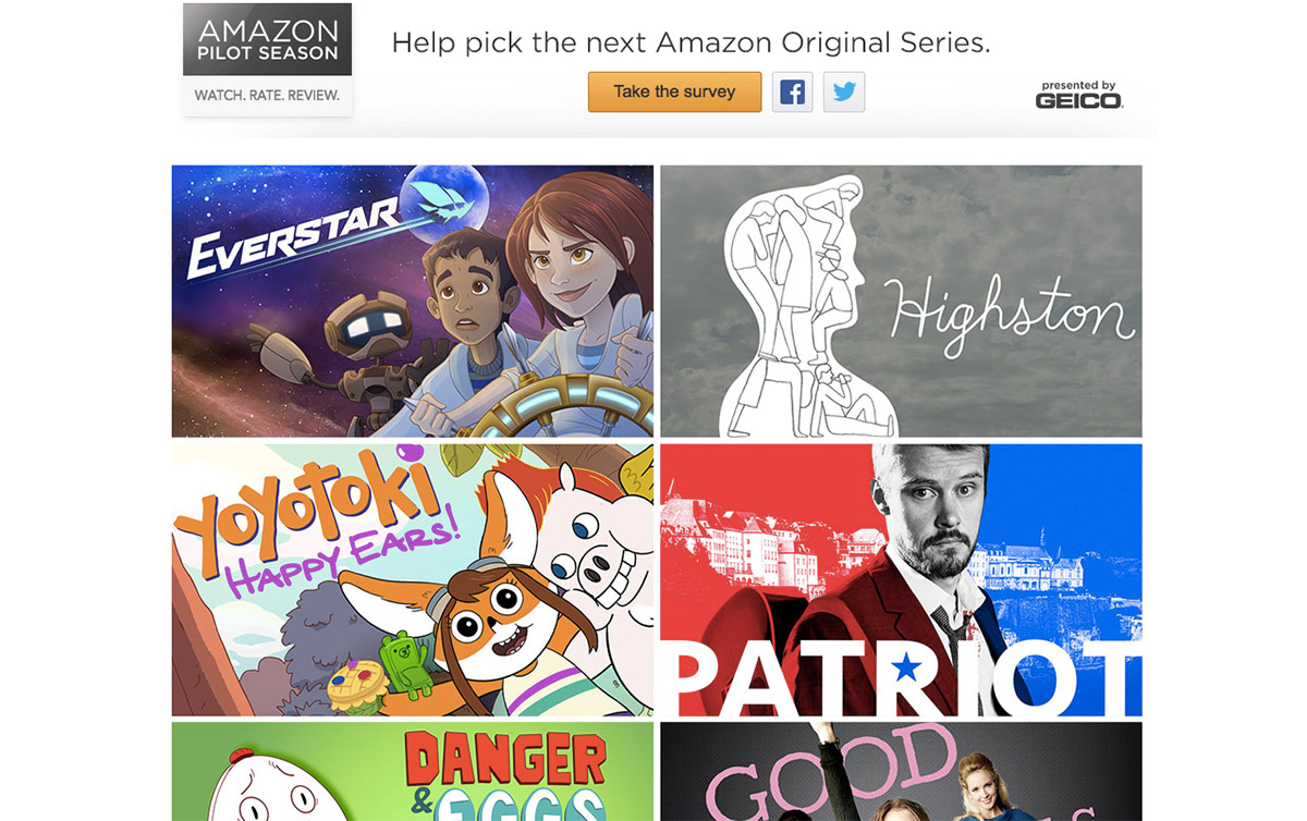 Amazon's 12 new pilots include animated, spy and biopic series