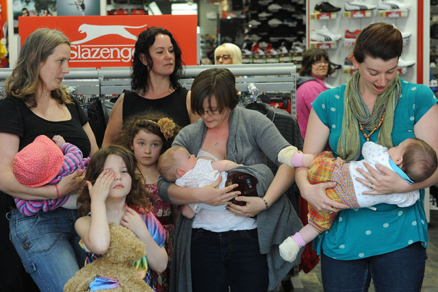 Breastfeeding protest in Sports Direct