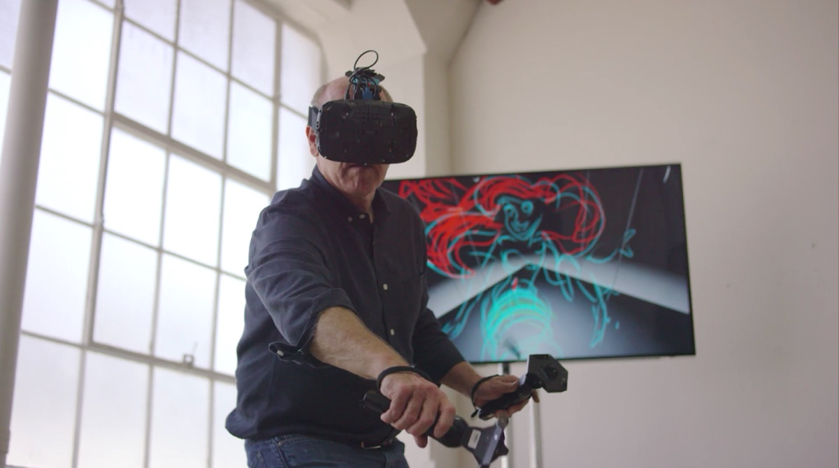Watch Disney Animation legend behind Aladdin and Ariel draw in VR