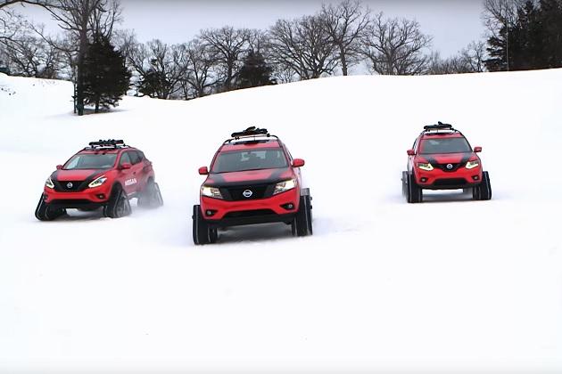 【ビデオ】北米日産の「ウィンター・ウォーリア」3台が雪山を駆け回る!
