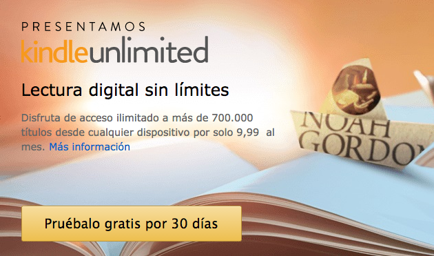 Amazon lanza en España Kindle Unlimited por 9,99 euros al mes