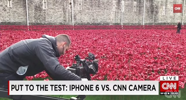 No CNN, the iPhone 6 is not better than a professional TV camera