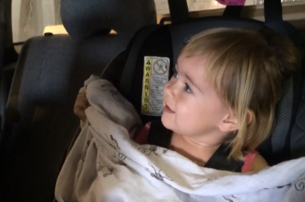 Watch this adorable 2-year-old freak out over her first car wash