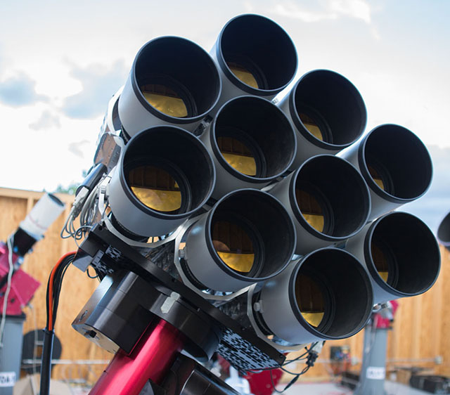 This telescope is really just 10 Canon lenses strapped together
