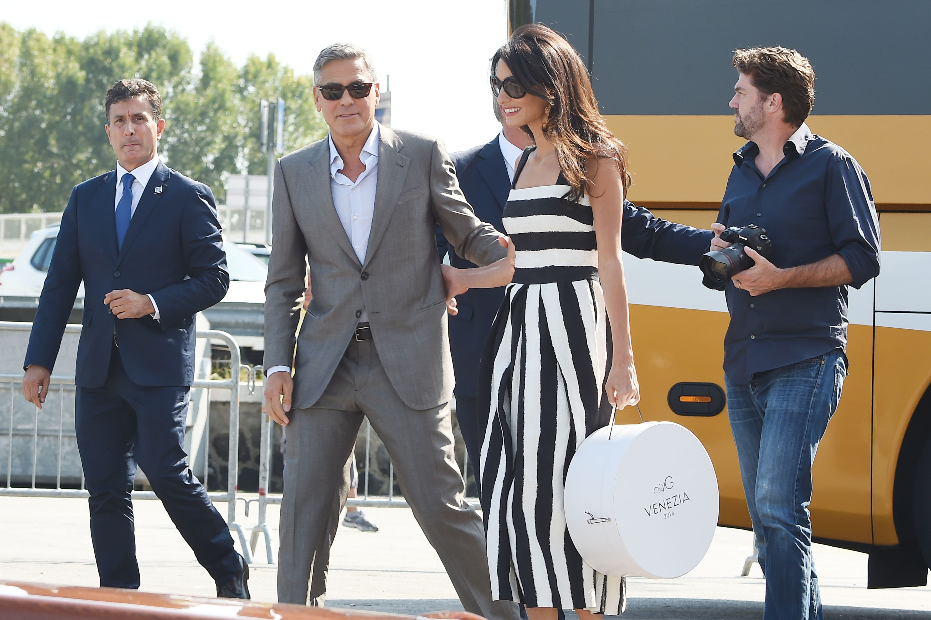 George Clooney and Amal Alamuddin are dazzling as they arrive in ...