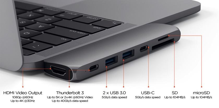 Satechi Pro Hub: Neues Dock für das aktuelle MacBook Pro