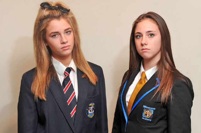 Twin sisters forced to go to different schools