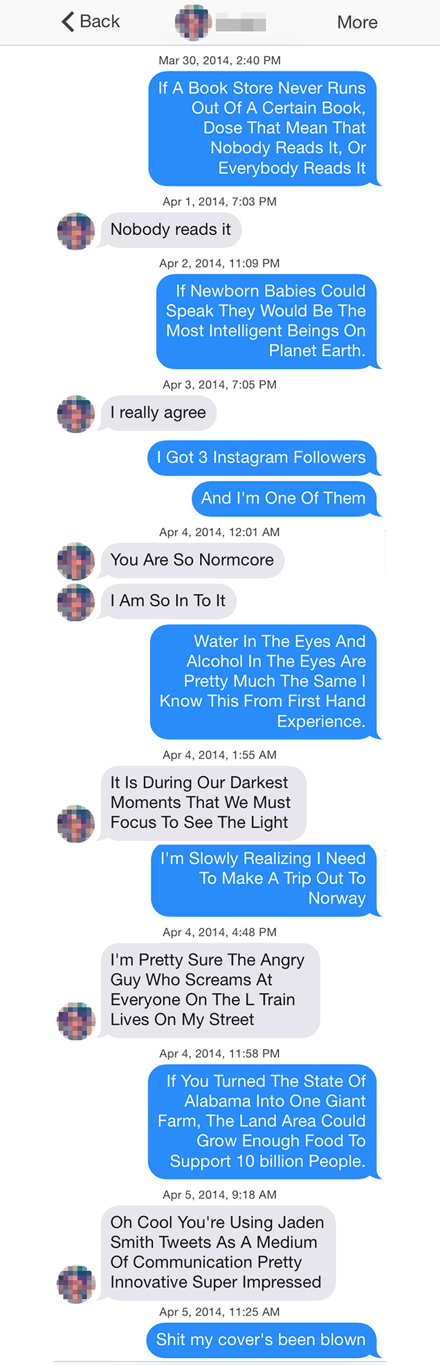Jaden Smith Tweets on Tinder