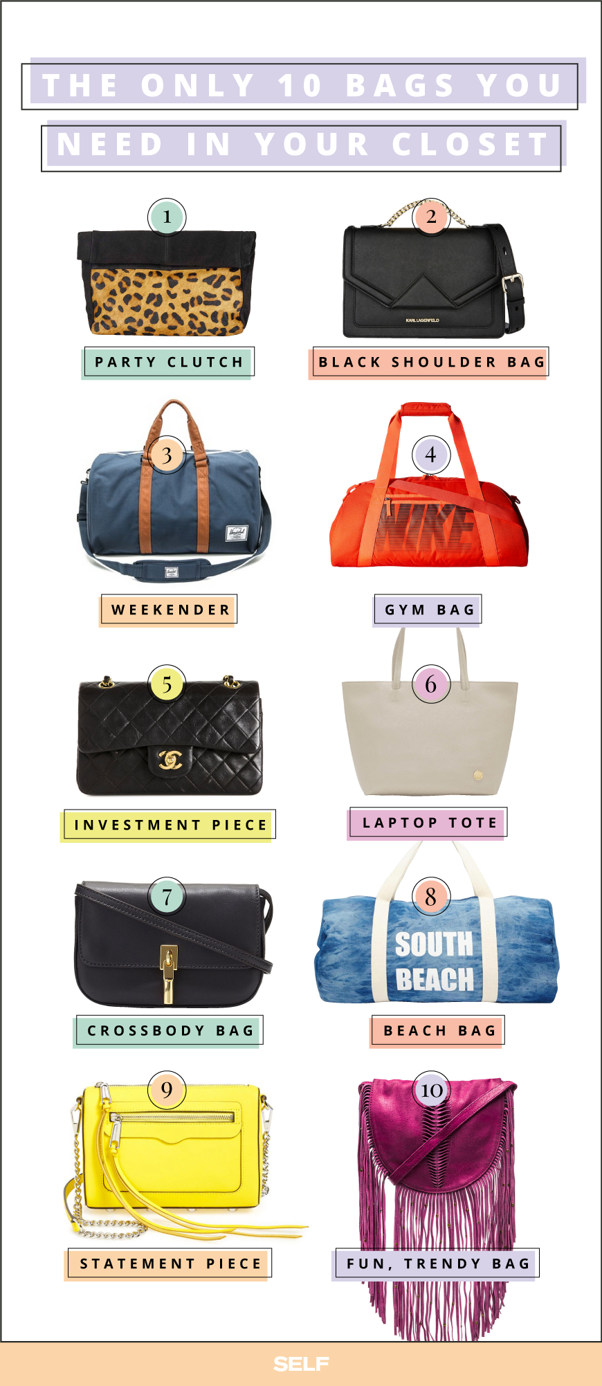 the only 10 bags you'll ever need