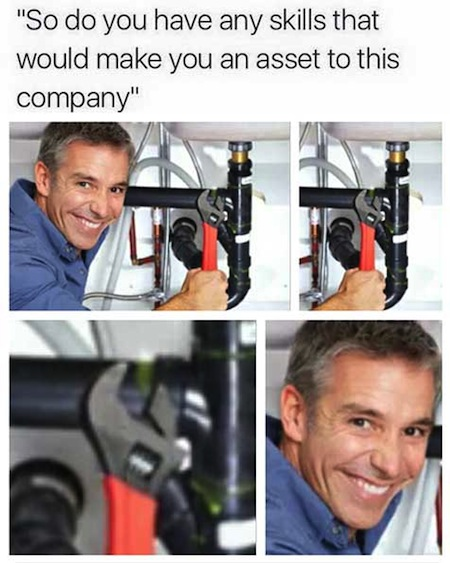 make you an asset to this company meme, asset to this company meme wrench on nothing