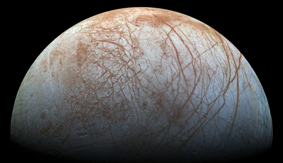 NASA's 'remastered' Europa image