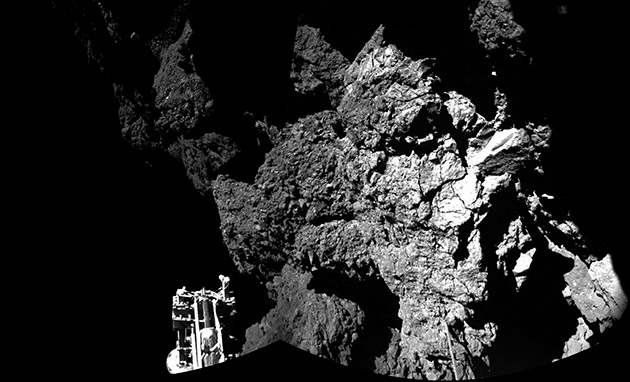 ESA's comet lander is stuck in the shadows where it can't harness solar power