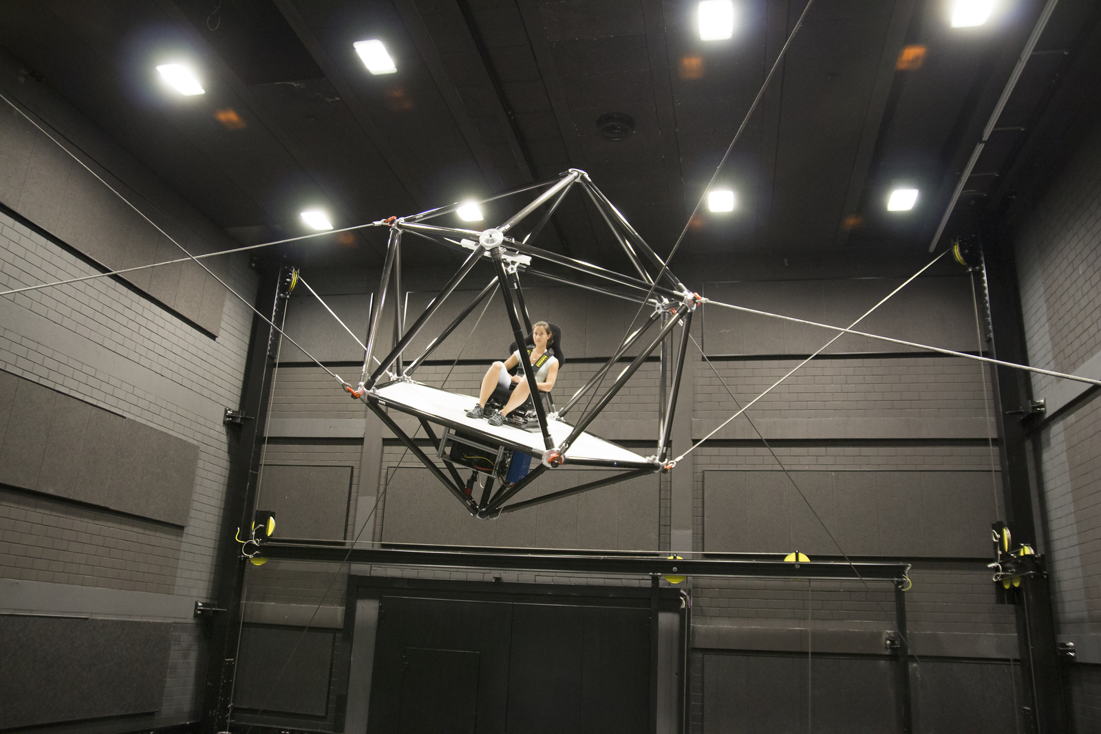 Ultimate VR simulator throws you around in mid air