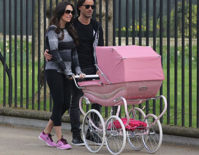 Tamara Ecclestone gets pink, crystal-encrusted pram for baby Sophia