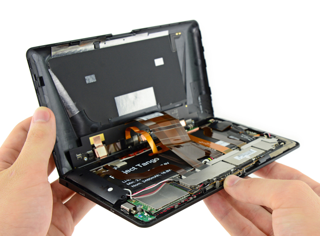Project Tango tablet teardown reveals its custom 3D mapping gear
