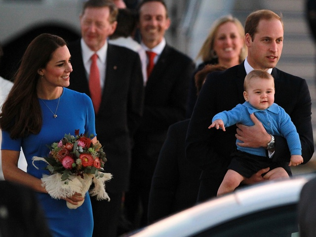 on April 20, 2014 in Canberra, Australia. The Duke and Duchess of Cambridge are on a three-week tour of Australia and New Zealand, the first official trip overseas with their son, Prince George of Cambridge.