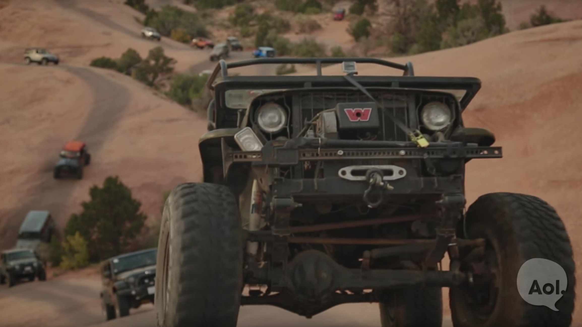 Ride along with a Jeep Wrangler club in Moab