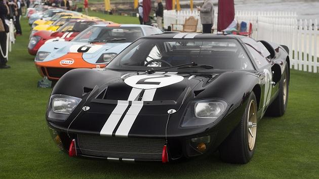 ル・マン初優勝から50周年を祝して、フォード「GT40」がペブルビーチに集結