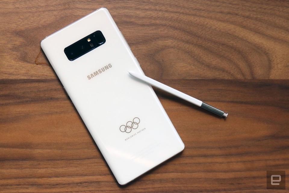 Galaxy note 8 olimpico