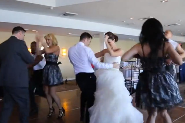 wedding guest dances to britney spears