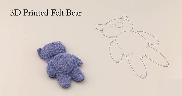 Disney experimenting with 3D printing teddy bears in felt