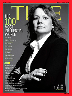 Mary Barra, GM CEO on cover of Time Magazine