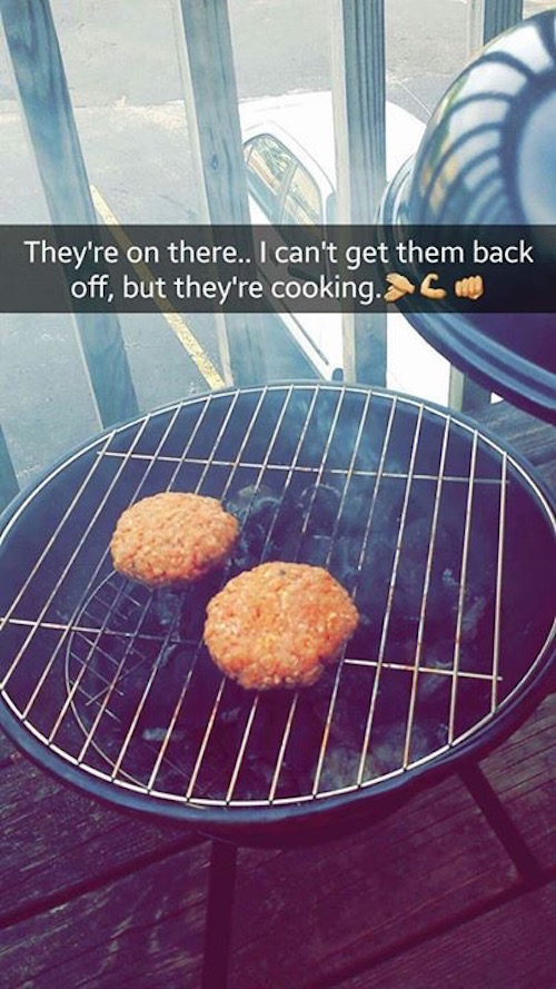 Girl's Terrible Attempt At Grilling