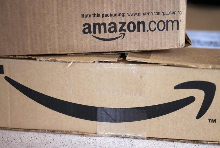 Golden, UNITED STATES Two freshly delivered Amazon boxes are seen on a counter in Golden, Colorado August 27, 2014.