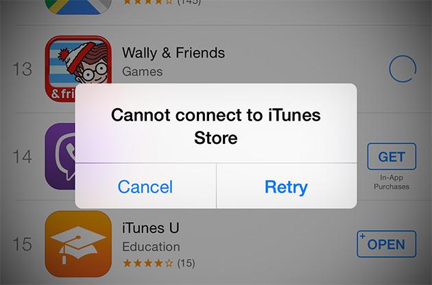 Las App Store y iTunes Store llevan caídas desde hace horas (Actualización: todo en orden)
