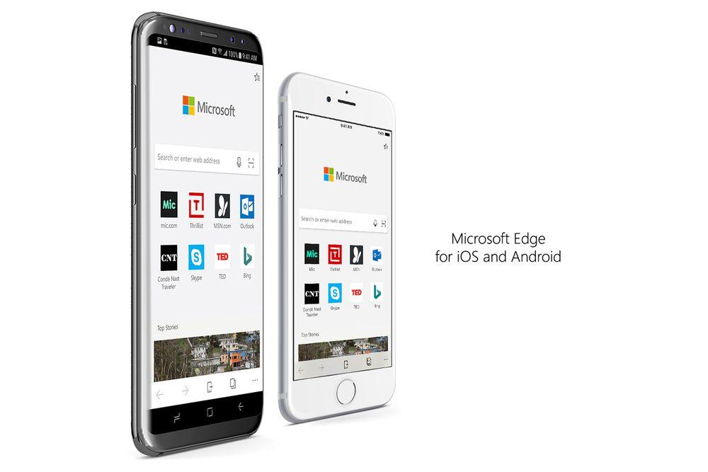 Microsofts Edge jetzt für iOS und Android